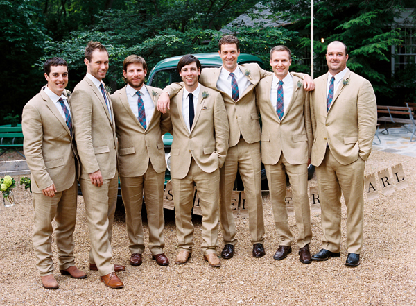 khaki groomsmen suits Archives - Southern Weddings