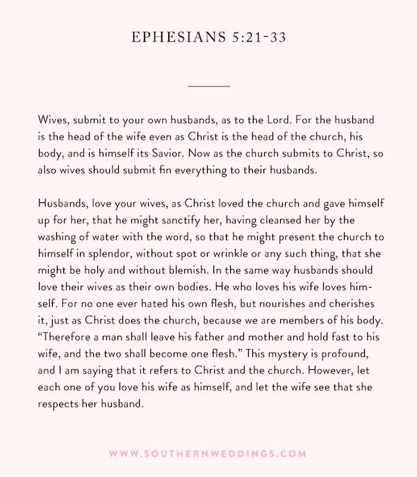 Best Wedding Readings Non Religious: Ephesians Ceremony Reading